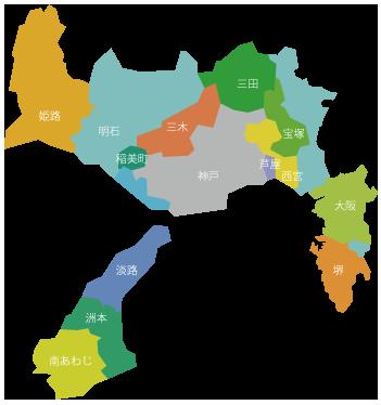 近隣観光都市の地図